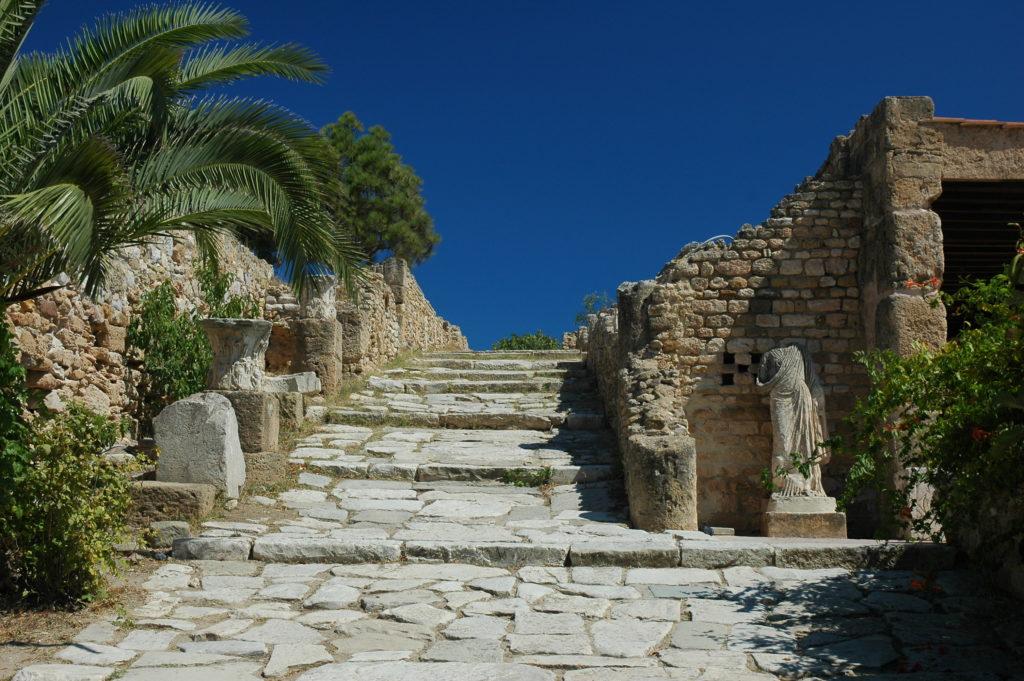 Ruinas romanas en la antigua Cartago