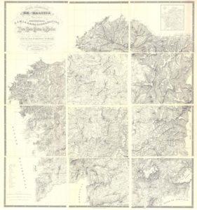 mapa cartográfico de Galicia