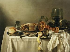 Pieter Claesz. Naturaleza muerta. 1637.