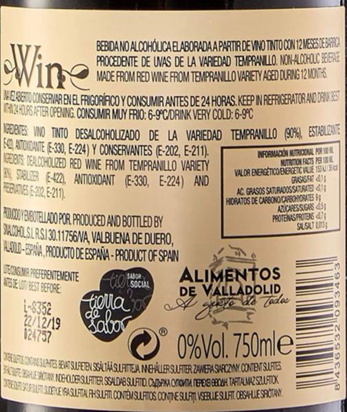 etiqueta de vino